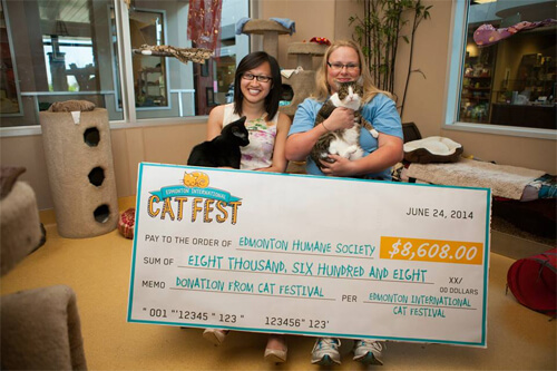 Nearly $9,000 raised for the Edmonton Humane Society. Photo by Blaise van Malsen!