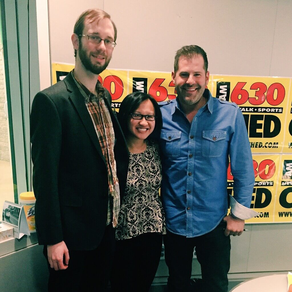 Cat Fest organizer & presenter Brandon Schatz with Ryan Jespersen of 630CHED!