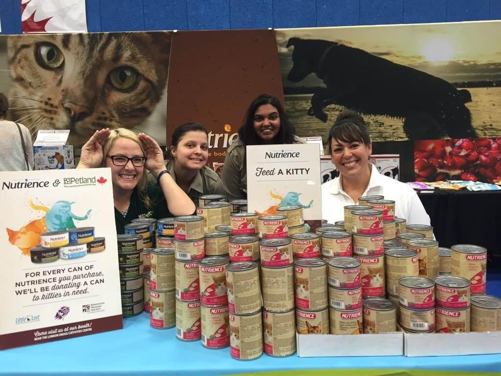 The Nutrience/Petland team at the 2015 Edmonton International Cat Festival!