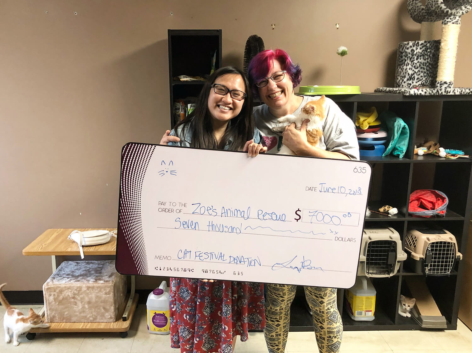 Edmonton International Cat Festival - Zoes Animal Rescue Donation